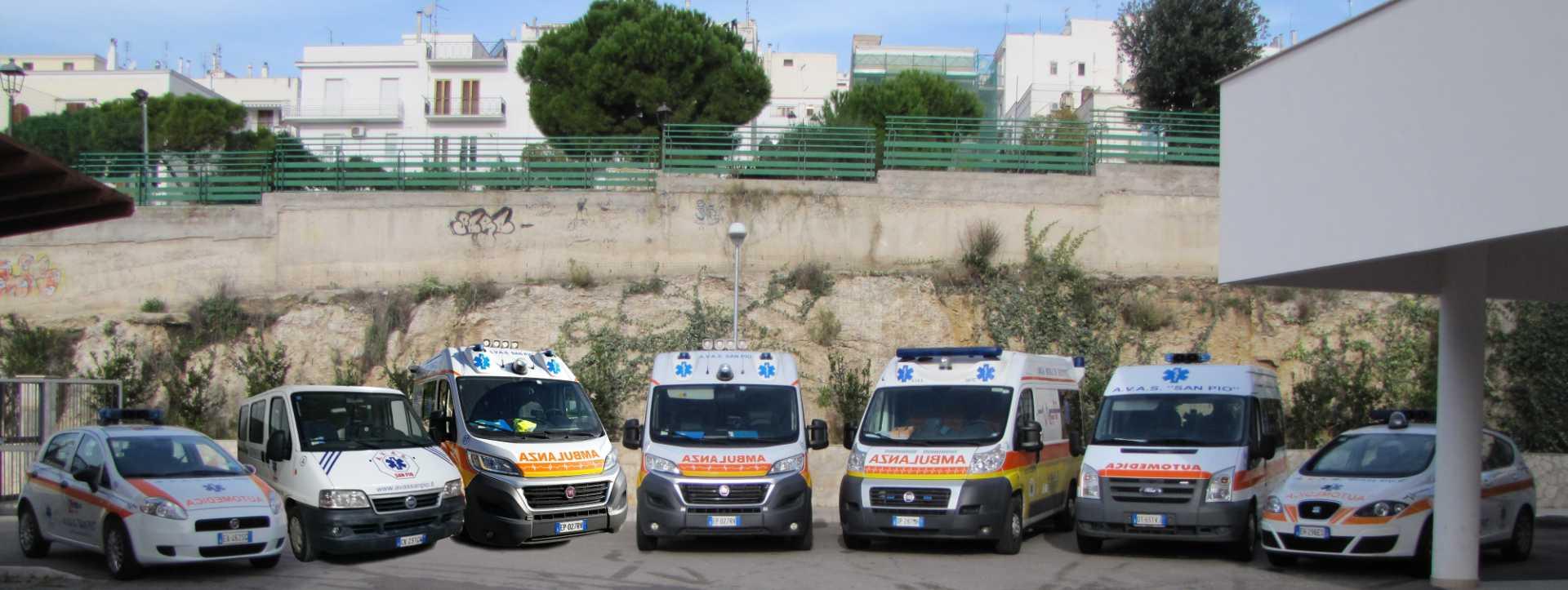 Servizio ambulanza per l'accompagnamento dei malati a San Giovanni Rotondo